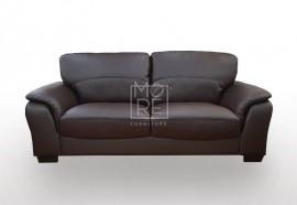 SCF Botany 2.5 Seater PU Leather Sofa Black