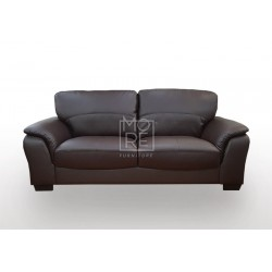 Botany 2.5 Seater PU Leather Sofa Brown