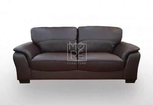 SCF Botany 2.5 Seater PU Leather Sofa Brown