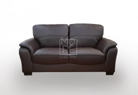 SCF Botany 2 Seater PU Leather Sofa Brown