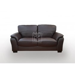 Botany 2 Seater PU Leather Sofa Brown
