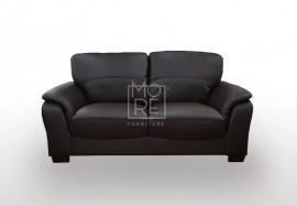 SCF Botany 2 Seater PU Leather Sofa Brown