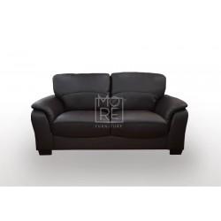 Botany 2 Seater PU Leather Sofa Black