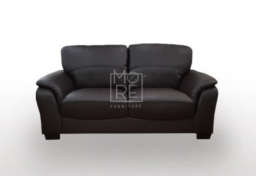 SCF Botany 2 Seater PU Leather Sofa Black