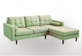 DB Luxury Fabric 3 Seater Chaise Beige (2.3m Wide)