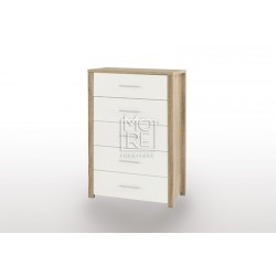 EVE CUE Chest Tallboy Oak&White