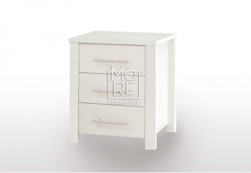 EVE CUE Bedside Table White