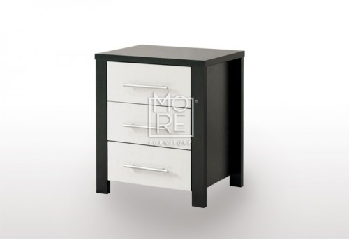 EVE CUE Bedside Table Walnut&White