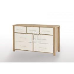 EVE CUE 7 Drawers Dresser Oak&White