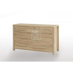 EVE CUE 7 Drawers Dresser Oak