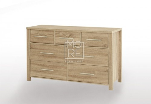 EVE CUE 7 Drawers Dresser Oak