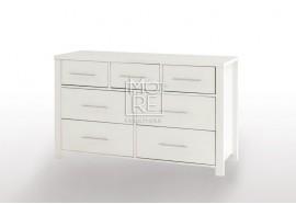 EVE CUE 7Drawer Dresser Oak&White