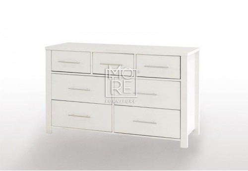 EVE CUE 7 Drawers Dresser White