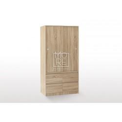 EVE CUE 90 Sliding Door Wardrobe Oak