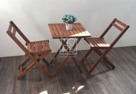 DB Outdoor Bistro 3 Piece Foldable Table Set