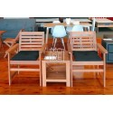 DB Outdoor Wooden Balcony 3 Piece Table Set
