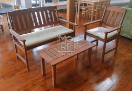 DB Outdoor Wooden 4 Piece Table Bench Set
