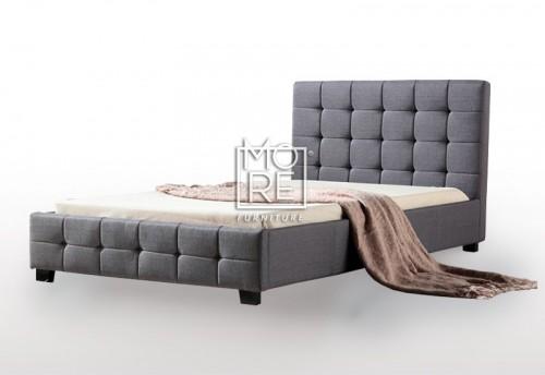 DB Luxury Fabric Bed Grey