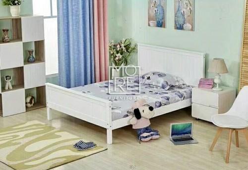 DB Wooden Classic Bed Frame White