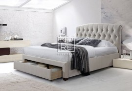 DB Luxury Royal Velvet Bed Frame with Drawer