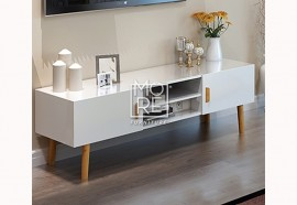 DB Modern Retro 1.4m TV Unit with Wooden Legs