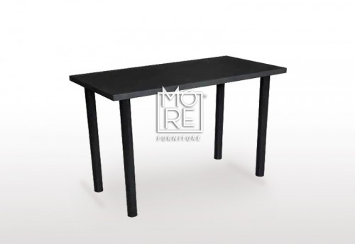 DB Simple Black Home Office Desk 1m Desk