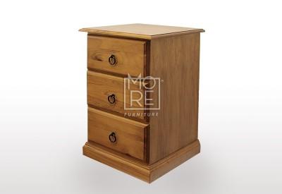 Standard NZ Pine Wood Bedside Table Golden Oak