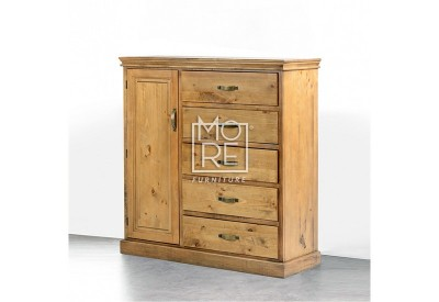 Kipling Chest NZ Pine Solid Timber Tallboy with Door
