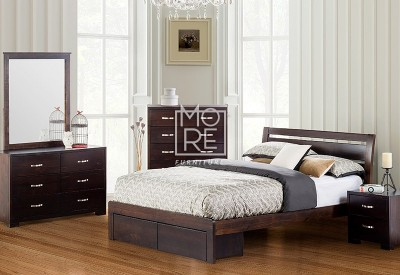 Montana NZ Pine Wooden Bed Frame with Storage Box