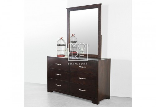 Montana NZ Pine Dresser with Mirror