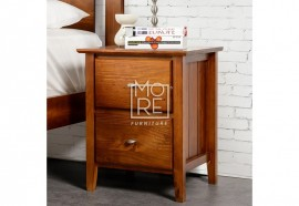 Tana NZ Pine Solid Timber Bedside Table
