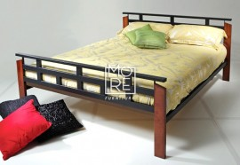 Jacob Rubberwood&Metal Bed