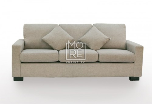APT 3 Seater Fabric Sofa Taupe