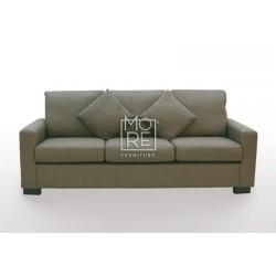 APT 3 Seater Fabric Sofa Chocolate