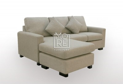 APT 3 Seater Chaise Fabric Taupe