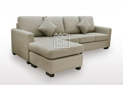 APT 4 Seater Chaise Fabric Taupe