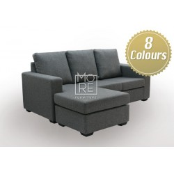 LG A06 3 Seater Chaise Fabric