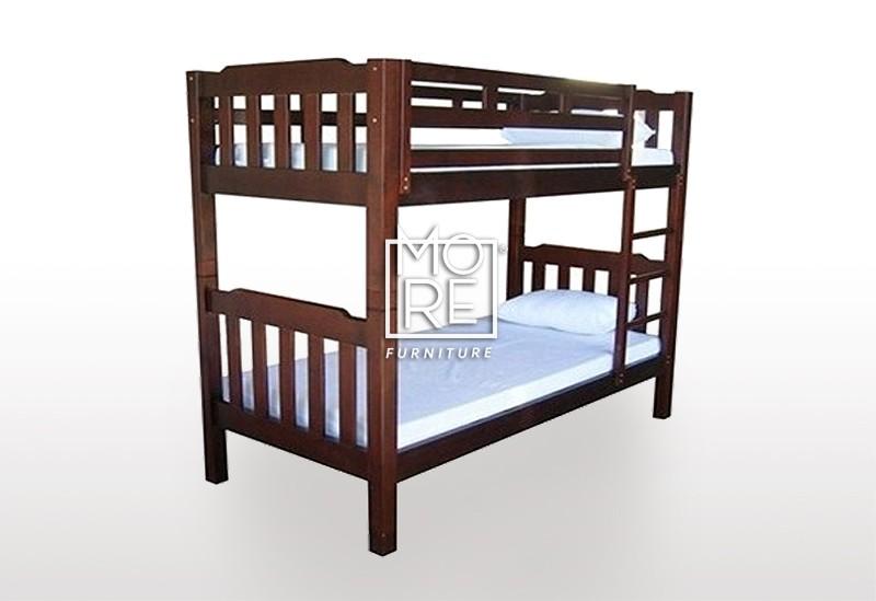 Bunk Bed Adelaide Timber Single Walnut Split 2 Beds