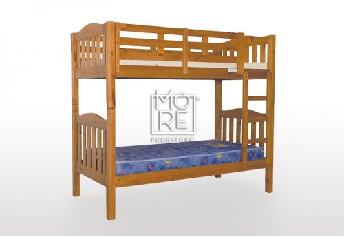 Adelaide Timber Bunk Bed Single Chestnut