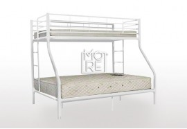 Darwin Metal Trio Bunk Bed White