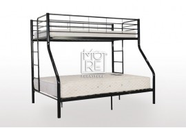 Darwin Metal Trio Bunk Bed Black
