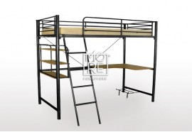Melbourne Metal Loft Bunk Bed Black