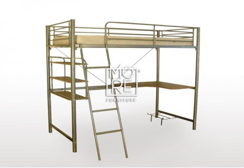 Melbourne Metal Loft Bunk Bed Silver