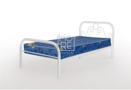 Noel Metal Bed Frame White