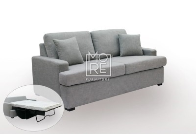 Zoom 2.5 Seater (1.8m) Fabric Sofa Bed with Mattress