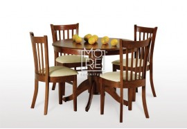 Lismore 5Pcs Extension Timber Dining Suite