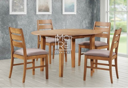 Tapas 5Pcs Extension Timber Dining Suite