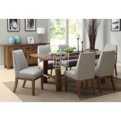 Loft 7Pce Tassie Oak Timber Dining Suite