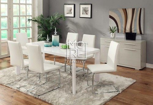 Pure PU Leather Dining Chair