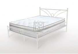 Sunset Metal Bed Frame White